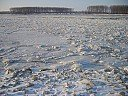 Река Дунав през зимата