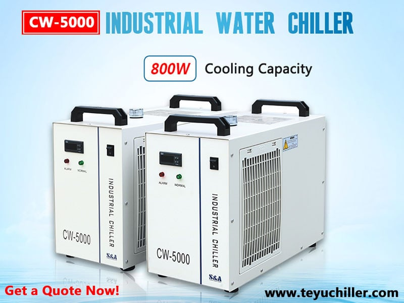 Воден чиллер CW5000 за лазерни резачки за неметални изделия