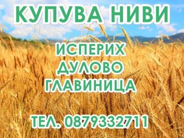 Купувам земеделска земя и ниви в район Исперих, Дулово